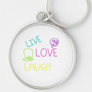 Vivo, amor, risa llaveros