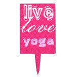 Vivo. Amor, yoga Figuras Para Tartas