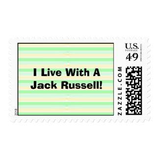 Vivo con los sellos de Jack Russell