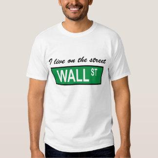 """""""Vivo en camiseta del Wall Street de la calle"""" Remera"""