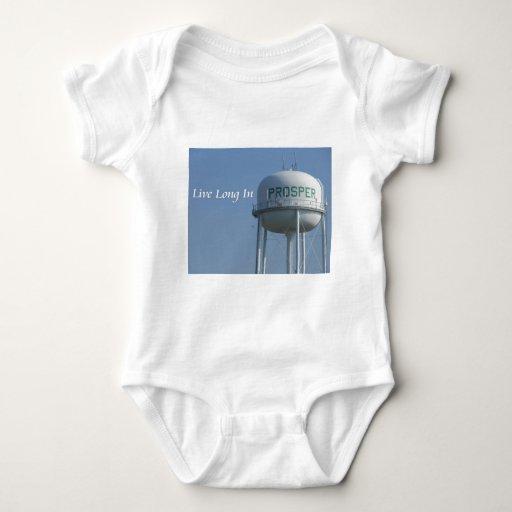 Vivo en prospera de largo el onsie del bebé (TX) Body Para Bebé