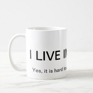 Vivo en una bóveda taza de café