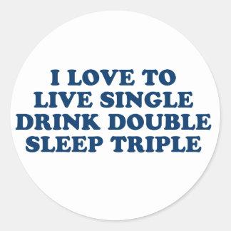 Vivo escoja el triple del sueño del doble de la etiquetas redondas