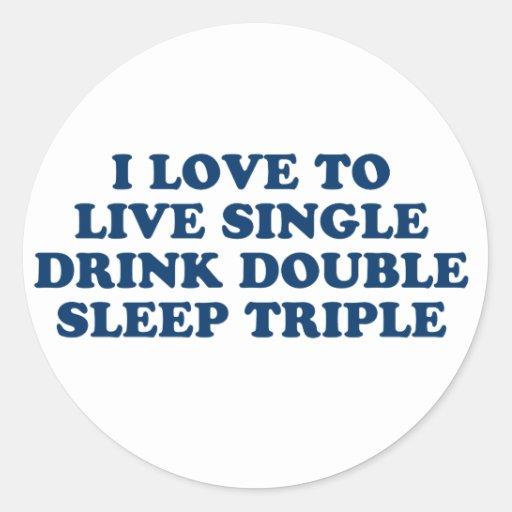 Vivo escoja el triple del sueño del doble de la pegatina redonda