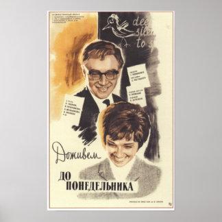 """Vivo hasta la película soviética 1968 de lunes"" U Posters"