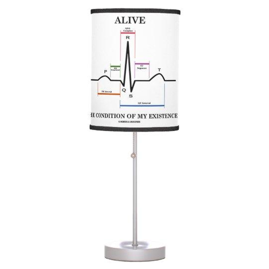 Vivo la condición de mi existencia (ECG/EKG) Lámpara De Mesilla De Noche