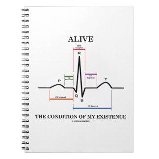 Vivo la condición de mi existencia (ECG/EKG) Libro De Apuntes