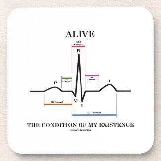 Vivo la condición de mi existencia (ECG/EKG) Posavasos De Bebidas
