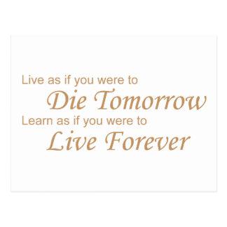 Vivo - muere mañana el amarillo postal
