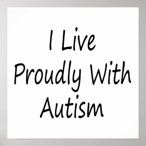 Vivo orgulloso con autismo poster
