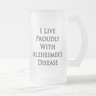 Vivo orgulloso con la enfermedad de Alzheimer Taza
