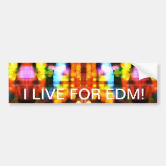 ¡Vivo para EDM!  Pegatina para el parachoques Pegatina Para Auto