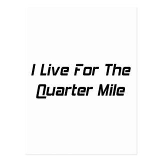 Vivo para el cuarto de milla por Gear4gearheads Tarjeta Postal