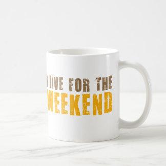 Vivo para el fin de semana taza básica blanca