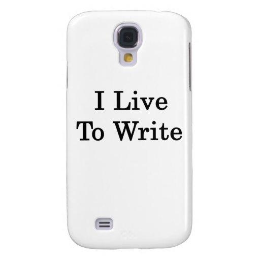 Vivo para escribir