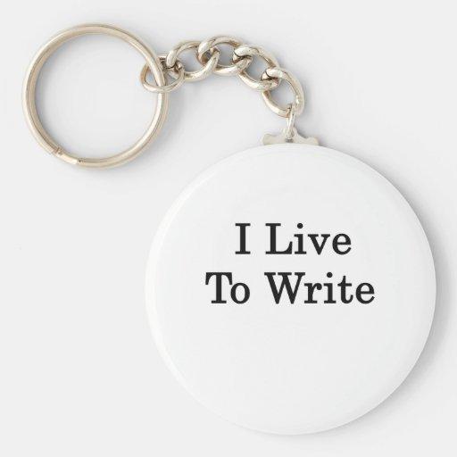 Vivo para escribir llavero