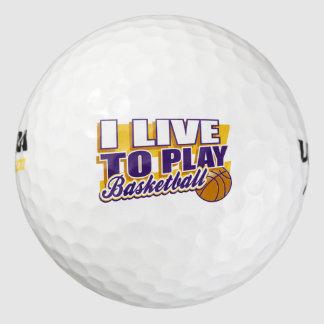 Vivo para jugar a baloncesto pack de pelotas de golf