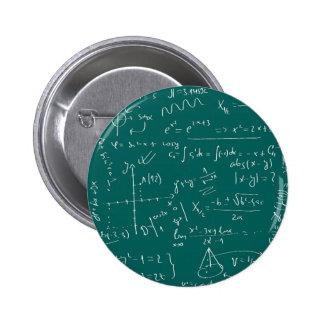 Vivo para la matemáticas pin redondo de 2 pulgadas