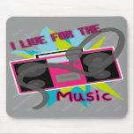 Vivo para la música Mousepad Alfombrilla De Raton