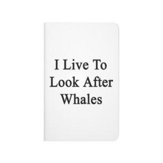 Vivo para ocuparme ballenas cuadernos grapados