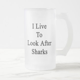 Vivo para ocuparme tiburones taza de café