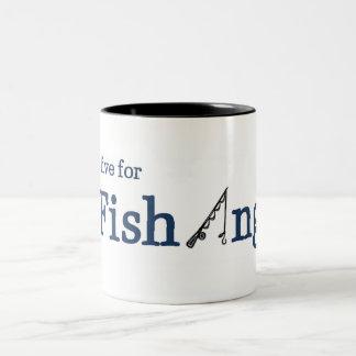 Vivo para pescar taza de dos tonos