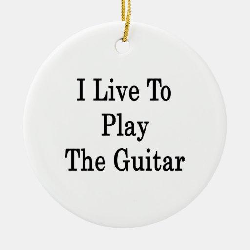 Vivo para tocar la guitarra ornamentos de reyes magos