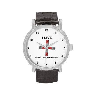 Vivo por el momento (el momento de tetrapolo magné reloj de mano