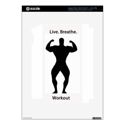 Vivo. respire. entrenamiento