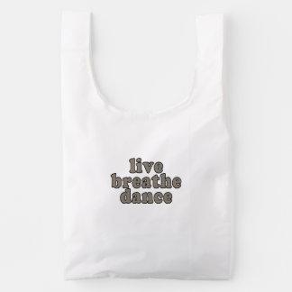 vivo respire la danza bolsa reutilizable