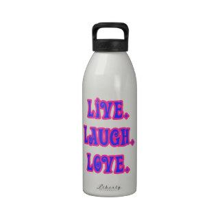 Vivo. Risa. Amor Botella De Agua