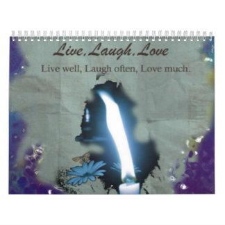 Vivo, risa, amor calendario