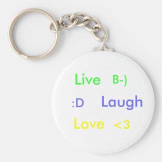 Vivo, risa, amor, llaveros