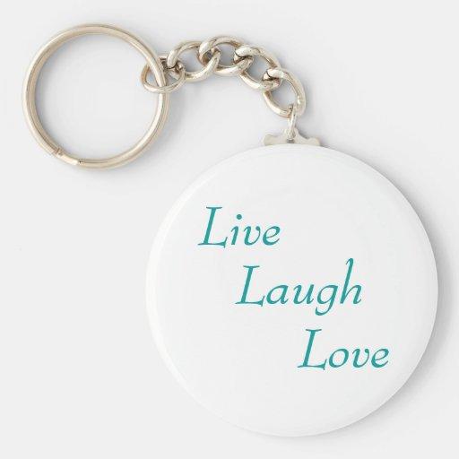 Vivo, risa, amor llaveros personalizados