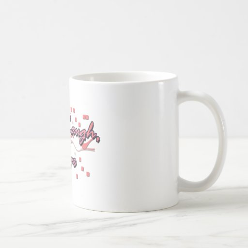 Vivo, risa, amor taza de café