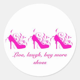 Vivo, risa, compre a más pegatinas de los zapatos etiqueta redonda