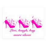 Vivo, risa, compre más postal de los zapatos