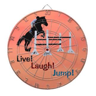 ¡Vivo ¡Risa ¡Salto Caballo ecuestre Tabla Dardos