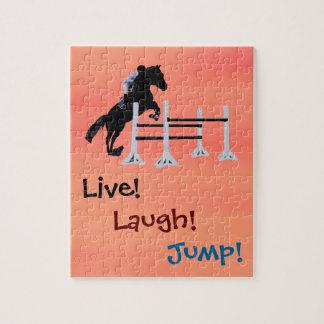 ¡Vivo! ¡Risa! ¡Salto! Caballo ecuestre Puzzle