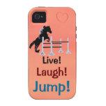 ¡Vivo! ¡Risa! ¡Salto! Puente del caballo iPhone 4 Funda