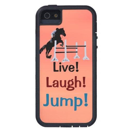 ¡Vivo! ¡Risa! ¡Salto! Puente del caballo Funda Para iPhone SE/5/5s