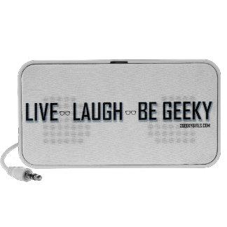 Vivo, risa, sea Geeky Portátil Altavoz
