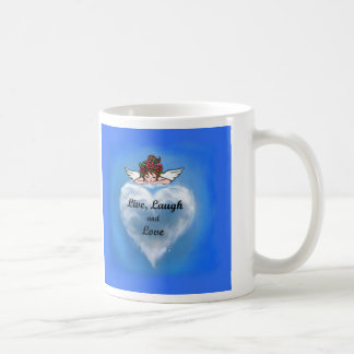 Vivo, risa y amor tazas de café