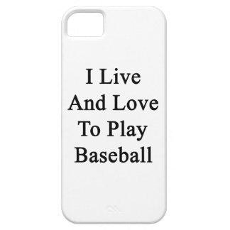 Vivo y amo jugar a béisbol iPhone 5 protector