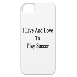 Vivo y amo jugar a fútbol iPhone 5 coberturas
