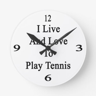 Vivo y amo jugar a tenis relojes