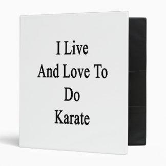 Vivo y amor para hacer karate