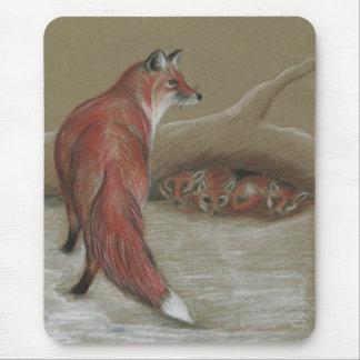 vixen and cubs mousepads