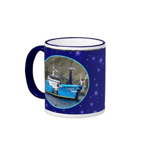 Vixen, barco del cangrejo en el puerto holandés, A Taza De Café