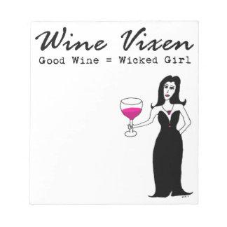 """Vixen """"buen vino del vino = chica travieso """" blocs de notas"""
